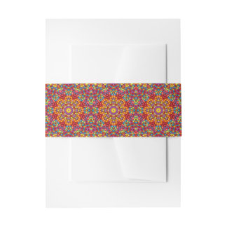 Yummy Yum Yum Colorful Invitation Belly Band