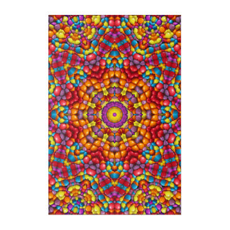 Yummy Yum Yum Kaleidoscope  Acrylic Wall Art