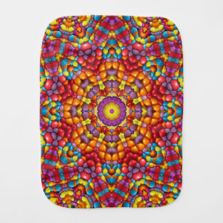 Yummy Yum Yum Kaleidoscope   Burp Cloth