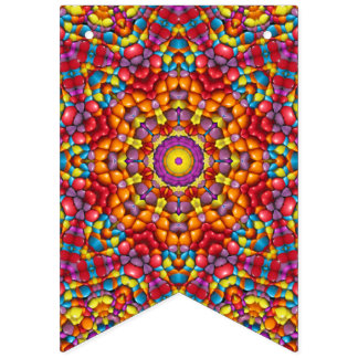 Yummy Yum Yum Vintage Kaleidoscope   Flags