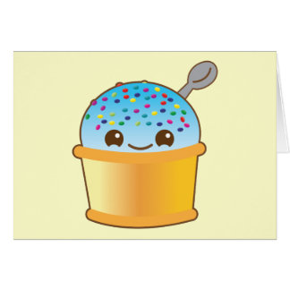 Yummy yummy bucket ice-cream kawaii! NP Card