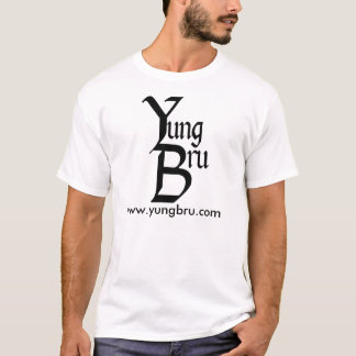 Yung Bru Logo with Website. T-Shirt