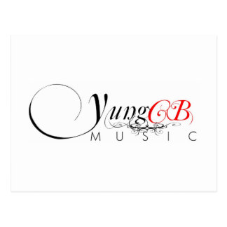 Yung CB Music Postage Stamp Post Card