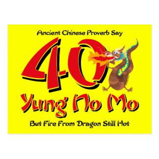 Yung No Mo 40th Birthday Postcard Invitation