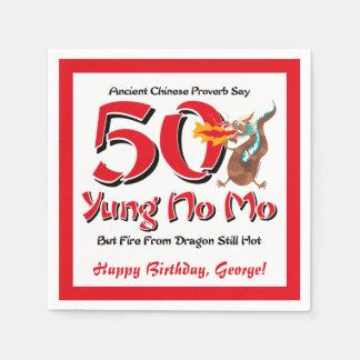 Yung No Mo 50th Birthday Disposable Serviette