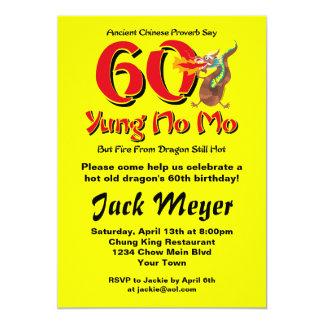 Yung No Mo 60th Birthday 13 Cm X 18 Cm Invitation Card