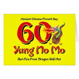 Yung No Mo 60th Birthday Greeting Card