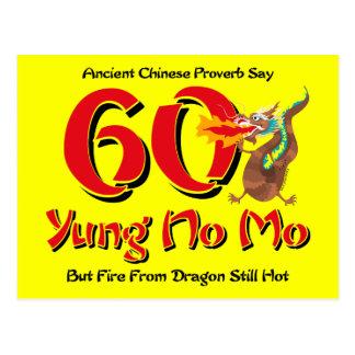 Yung No Mo 60th Birthday Postcard Invitation