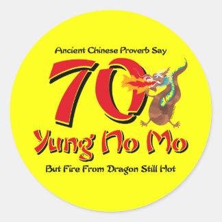 Yung No Mo 70th Birthday Classic Round Sticker