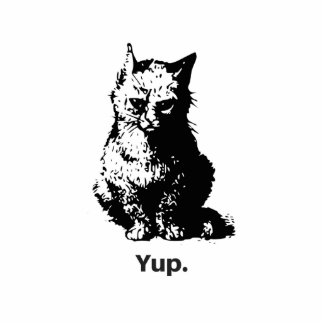 Yup Cat Standing Photo Sculpture