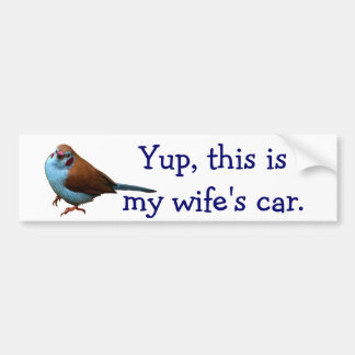 Yup this is my wife s car LOLBird Bumper Sticker
