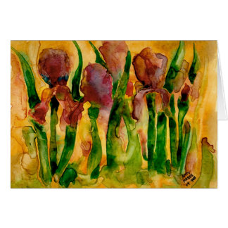 Yupo Irises Card