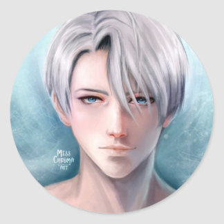 Yuri on Ice | Victor fanart Round Sticker