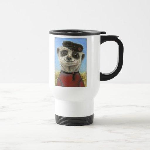 Yuri the meerkat coffee mug