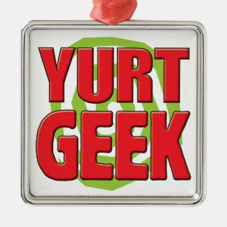 Yurt Geek Metal Ornament