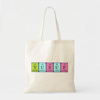 Yusuf periodic table name tote bag