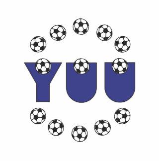 Yuu in Soccer Blue Standing Photo Sculpture