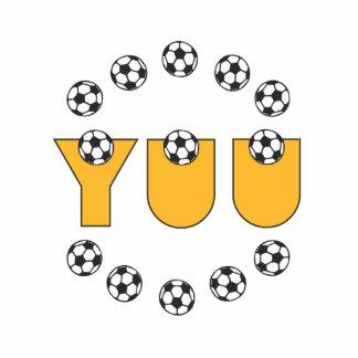 Yuu in Soccer Gold Standing Photo Sculpture