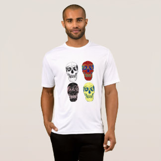 yuyass four colourful skulls T-Shirt