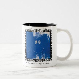 yves klein happy face mug