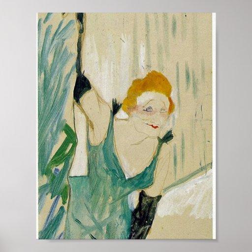 Yvette Guilbert by Henri de Toulouse-Lautrec Posters