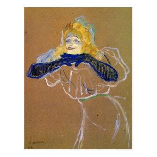 Yvette Guilbert sings by Toulouse-Lautrec Postcard