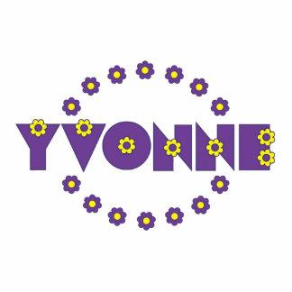 Yvonne Flores Purple Photo Cut Out