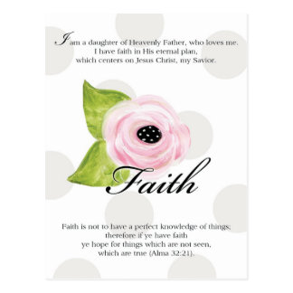 YW Value Card - Faith Postcard