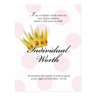 YW Value Card - Individual Worth Postcard