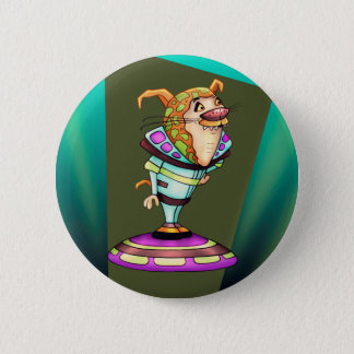 YZOX ALIEN CARTOON  Button 2¼ Inch