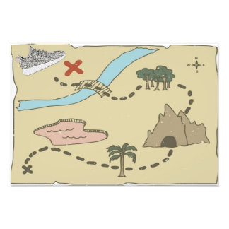 "YZY Satin Treasure Map 19"" x 13"" Photo"