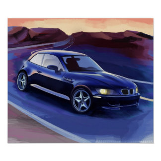 z3 coupe illustration poster
