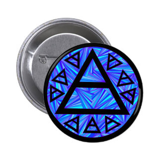 Z Blue Platos Air Symbol Triad Button Badge