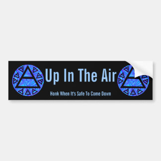 Z Blue Triad Ancient Air Symbol Up In The Air Bumper Sticker