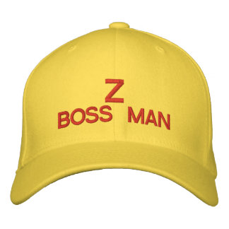 Z BOSS MAN Customizable Cap  @ eZaZZleMan.com Embroidered Baseball Caps