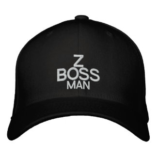 Z BOSS MAN - Customizable Cap @ eZaZZleMan.com Embroidered Hat