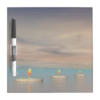 z+Candle steps - 3D render Dry Erase Board