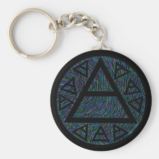 Z Colorful New Age Platos Air Sign Triad Basic Round Button Key Ring