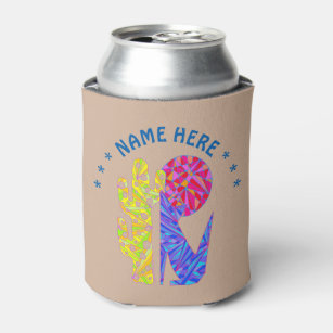 Z Coyote Wolf Colourful Southwestern Design Desert Can Cooler