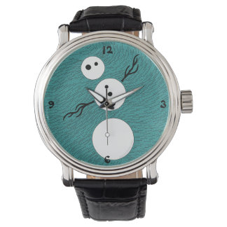 Z Customizable Whimsical Winter Snowman Time Piece Watch