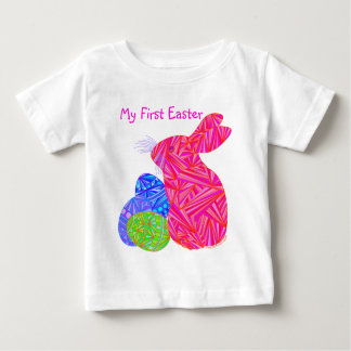 Z Cute Pink Easter Bunny My First Easter Tee Shirt