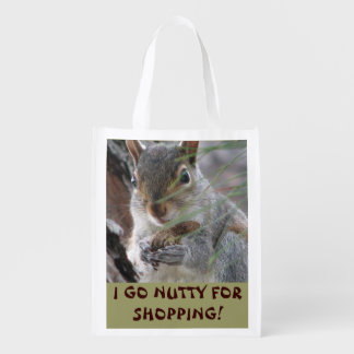 Z Cute Squirrel With Peanut Nutty For Shopping Reusable Grocery Bag