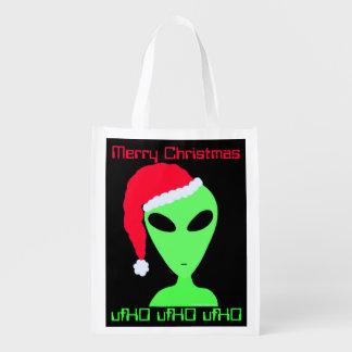 Z Fun Alien Santa Geek Humor Tote ufHO Christmas