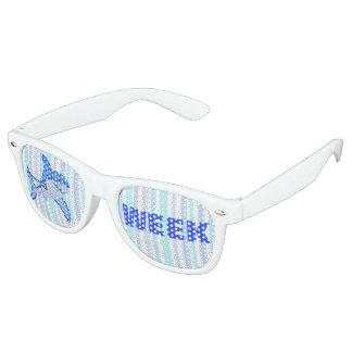 Z Great White Shark Colorful Sea Stripes Retro Sunglasses