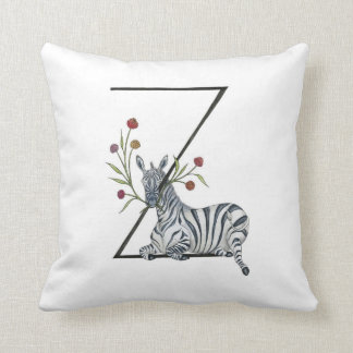 Z is for Zebra and Zinnia Pillow! Cushion
