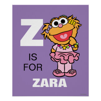 Z is for Zoe | Add Your Name Poster