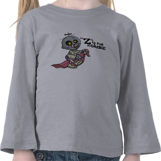 """""""Z"""" is for Zombie w/ Blanket (Girls) Long Sleeve Tee Shirt"""