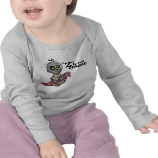 Z is for Zombie with Blanket Girls Long Sleeve Shirt
