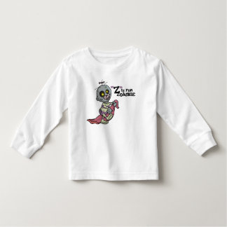 """Z"" is for Zombie with Blanket (girls) Long Sleeve Shirt"