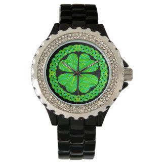Z Lucky 4 Leaf Clover Celtic Shamrock Fashion Watch
